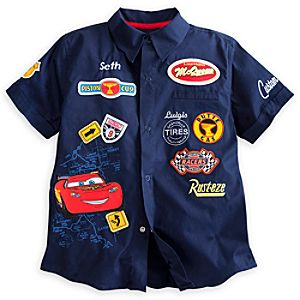 Cars Woven Shirt for Boys - Personalizable
