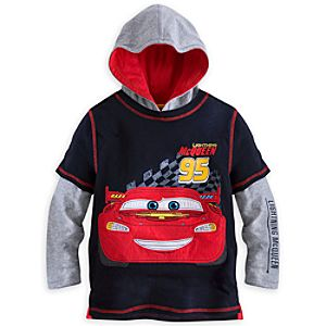 Lightning McQueen Double-Up Hoodie Tee for Boys