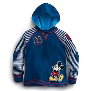 Long Sleeve Hooded Mickey Mouse Tee for Boys