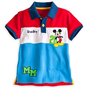 Mickey Mouse Polo Shirt for Boys - Personalizable