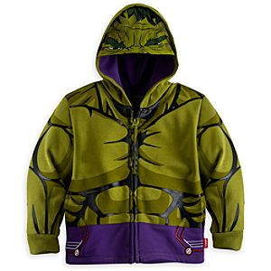 Hulk Costume Hoodie for Boys - Marvels Avengers: Age of Ultron