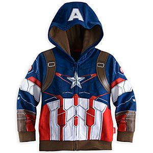 Captain America Costume Hoodie for Boys - Marvels Avengers: Age of Ultron