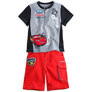 Lightning McQueen Tee and Shorts Set for Boys