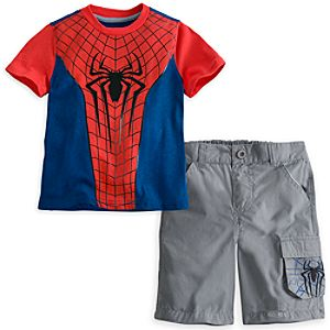 The Amazing Spider-Man Tee and Shorts Set for Boys