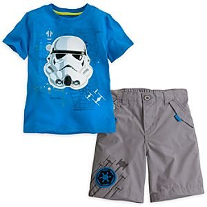 Stormtrooper Tee and Shorts Set for Boys