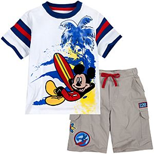 Mickey Mouse Tee and Shorts Set for Boys -- 2-Pc.