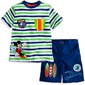 Mickey Mouse Tee and Shorts Set for Boys