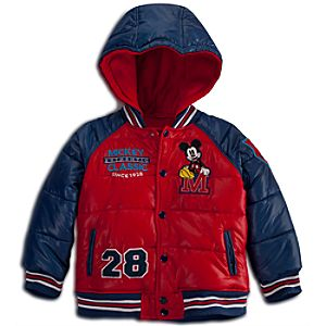 Puffy Mickey Mouse Jacket for Boys