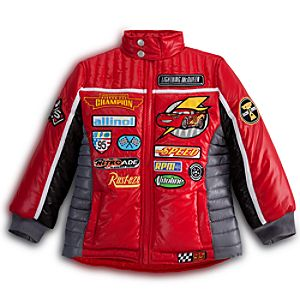 Personalizable Puffy Lightning McQueen Jacket for Boys