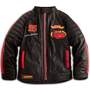 Faux Leather Lightning McQueen Motorcycle Jacket