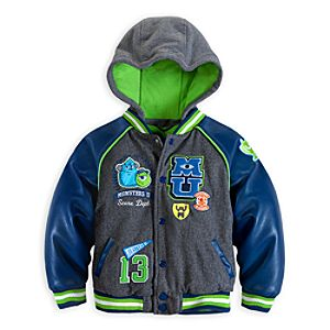 Monsters University Hooded Varsity Jacket for Boys
