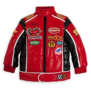 Lightning McQueen Puffy Jacket for Boys - Personalizable