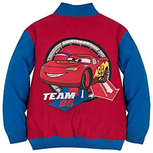 Personalizable Varsity Lightning McQueen Jacket for Boys