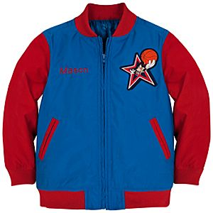 Personalizable Varsity Basketball Mickey Mouse Jacket for Boys
