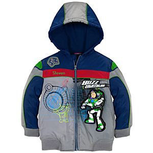 Personalizable Hooded Puffy Buzz Lightyear Jacket for Boys