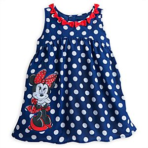 Minnie Mouse Woven Fashion Dress for Girls