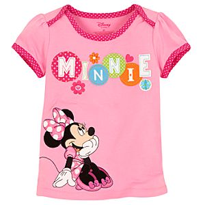 Pink Minnie Mouse Tee for Toddler Girls