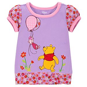Winnie the Pooh Top for Toddler Girls
