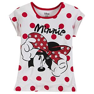 Cap Sleeve Minnie Mouse Tee for Girls