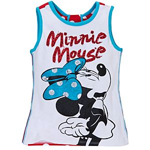 Glitter Minnie Mouse Tank Tee for Girls