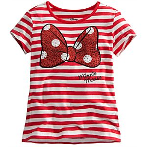 Bow Minnie Mouse Tee for Girls