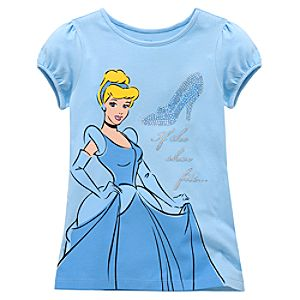 Glass Slipper Cinderella Tee for Girls