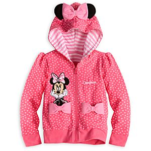 Minnie Mouse Zip-up Hoodie for Girls - Personalized