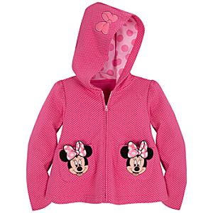 Polka-Dotted Minnie Mouse Hoodie for Toddler Girls