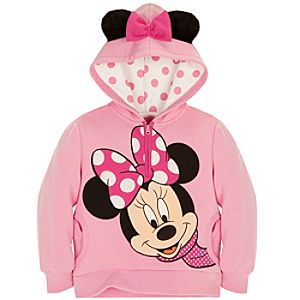 Half Zip Fleece Minnie Mouse Hoodie for Girls