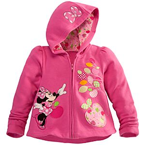 Personalizable Zip Fleece Minnie Mouse Hoodie for Toddler Girls