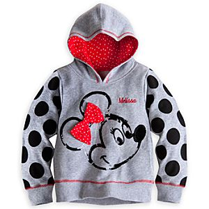 Minnie Mouse Hoodie Pullover for Girls - Personalizable