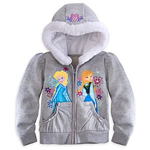 Anna and Elsa Hoodie for Girls - Frozen