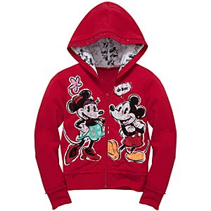 Mickey and Minnie Mouse Hoodie for Girls