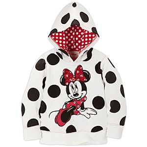 Dazzling Pullover Fleece Minnie Mouse Hoodie for Girls