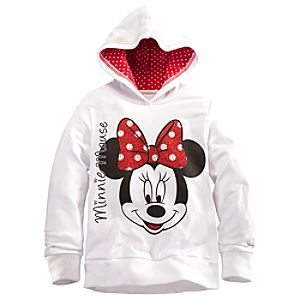 Fleece Minnie Mouse Hoodie for Girls