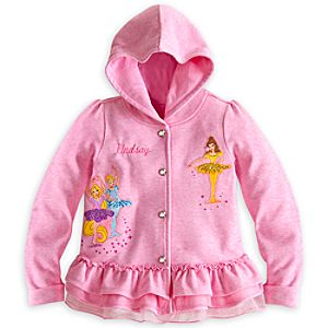 Disney Princess Ballet Hoodie for Girls - Personalizable