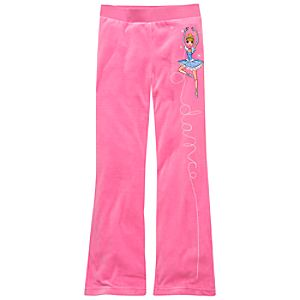 Velour Ballet Disney Princess Pants for Girls