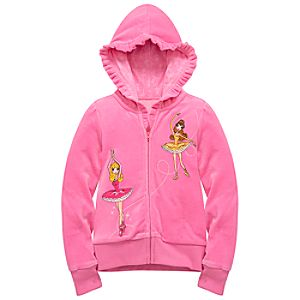 Velour Ballet Disney Princess Hoodie for Girls