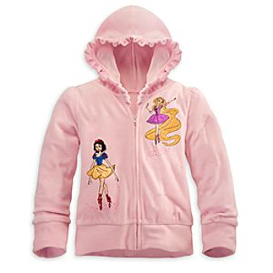 Personalizable Velour Ballerina Disney Princess Hoodie for Girls