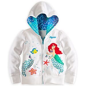 Ariel Hoodie for Girls - Personalizable