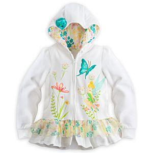 Tinker Bell White Hoodie for Girls