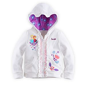 Anna and Elsa Hoodie for Girls - Frozen - Personalizable