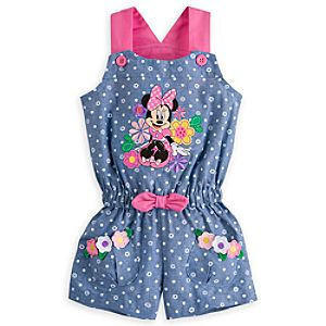Minnie Mouse Woven Romper for Girls