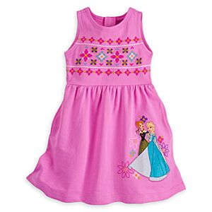 Anna and Elsa Knit Dress for Girls