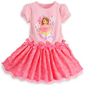 Sofia Pink Woven Dress for Girls
