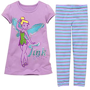 Sequin Tinker Bell Dress Set for Girls -- 2-Pc.