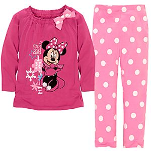 Snowflake Minnie Mouse Dress Set for Toddler Girls -- 2-Pc.