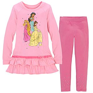 Sparkle Disney Princess Dress Set for Girls -- 2-Pc.