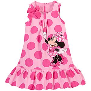 Woven Minnie Mouse Dress for Girls