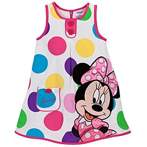 Polka Dot Minnie Mouse Woven Dress for Toddler Girls
